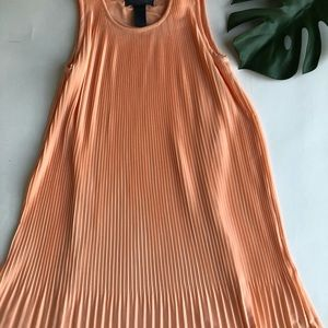 WYATT melon pleated dress